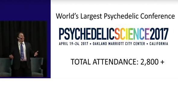 Fotograma de la presentación de Psychedelic Science 2017. Asistencia total: más de 2800 personas